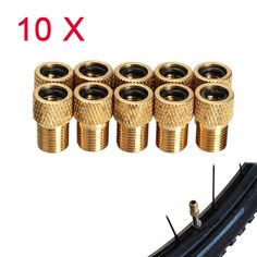 (10 Pieces) Bicycle Bike Presta to Schrader Tube Pump Tire Gas Valve Adapter Convert Repair Bomba Bicicleta Bicycle Wastgate