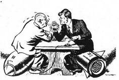 Leslie Illingworth cartoon depicting the Cuban missile crisis.