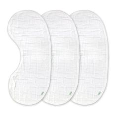 green sprouts Brights Organic 3 Count Muslin Burp Pad, White $22.99