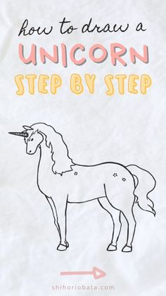 How to Draw a Unicorn: Easy Step by Step Tutorial Creative Inspiration, Cool Drawings, Amazing Art, Have Fun, Diy And Crafts, Unicorn, Scenery, How Are You Feeling, Sketches