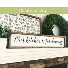 Our Kitchen Is For Dancing   Kitchen Decor   Kitchen Sign   Housewarming  Gift   Kitchen