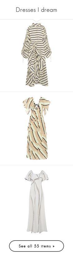 """Dresses I dream"" by lorika-borika on Polyvore featuring dresses, ivory, white birthday dress, silk dress, ivory dress, ivory midi dress, striped midi dress, green, colorful maxi dress и cotton dress"