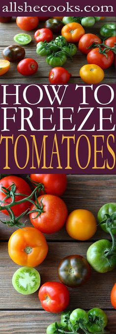 Preserving tomatoes is one of the best ways to keep eating fresh vegetables all year long. Learn how to freeze tomatoes and enjoy the food you eat.