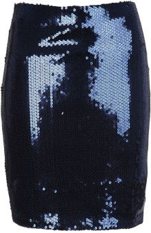 Jane Norman Sequin Mini Skirt www.finditforweddings.com Blue
