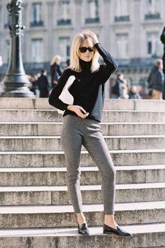 Elin Kling of Style by Kling, after Stella McCartney posing or fighting off a migraine. You make the call. #VanessaJackman