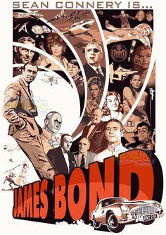 Uma homenagem ao melhor ator que fez James Bond até hoje, o que definiu os cânones cinematográficos do personagem. #jamesbond #007 #poster #vector #vetor #seanconnery #ilustração #illustration #movieposter #movies