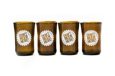 Craft Beer Here Tumblers- Upcyced glasses Pint Glass, Tumblers, Craft Beer, Glasses, Tableware, Crafts, Beauty, Beleza, Eyeglasses
