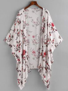 SheIn offers Floral Print Random Asymmetric Hem Kimono & more to fit your fashionable needs.Affordable women's kimono tops online store for every occasion. Shop now for the latest styles of ladies kimono off order.Shop [good_name] at ROMWE, discover Cardigan Fashion, Kimono Fashion, Hijab Fashion, Fashion Outfits, Womens Fashion, Mode Kimono, Suits For Women, Clothes For Women, Poncho