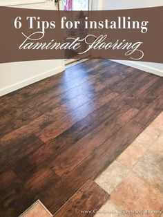diy house Thinking of installing your own laminate flooring Read my 6 Tips for Installing Laminate Flooring to help you with this DIY project to transform your home. Home Remodeling Diy, Basement Remodeling, Home Renovation, Kitchen Remodeling, Basement Ideas, Installing Laminate Flooring, Diy Flooring, Flooring Ideas, Kitchen Flooring