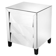 fabulous mirrored furniture. giana mirrored 3 drawer bedside cabinet fabulous furniture from wwwserendipityhomeinteriorscom e