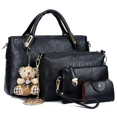 Now available on our store: Teddy  (4 Set Pie... - Wear them to stand out. Check it out here! http://rebel-fox.com/products/teddy-4-set-piece-handbag-iii?utm_campaign=social_autopilot&utm_source=pin&utm_medium=pin