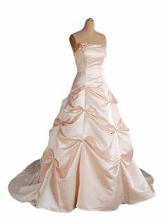 Cocomelody Pink Strapless Pick up Chapel Train Satin Wedding Dress Wedding Preparation List, Chapel Wedding, Dream Wedding, Bridal Fabric, Chapel Train, Fabric Online, Formal Dresses, Wedding Dresses, Dressmaking