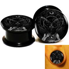 Find More Body Jewelry Information about Wholesale 20pcs/lot Baphomet Eye With Wings Logo Ear Gauge Plug Tunnel Stretcher Expander Screw Fit Plug 6m 25mm Free Shipping,High Quality eye bar,China screw 3mm Suppliers, Cheap eye marker from DreamFire Store on Aliexpress.com