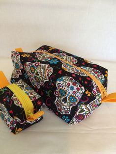 Boxy Zippered Pouches  by QuiltAroundTheClock on Etsy https://www.etsy.com/listing/216410587/boxy-zippered-pouches