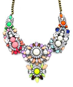 rainbow jeweled necklace