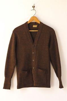 869b4642690 1940 s vintage men s Sportclad brown cardigan