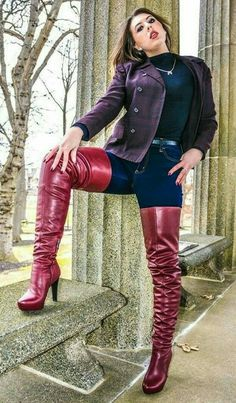 Arquitectura Tutorial and Ideas Leather High Heel Boots, Thigh High Boots Heels, Ankle Boots, Tight High Boots, Over The Knee Boots, Dress With Boots, Jeans And Boots, Women's Runway Fashion, Fashion Women
