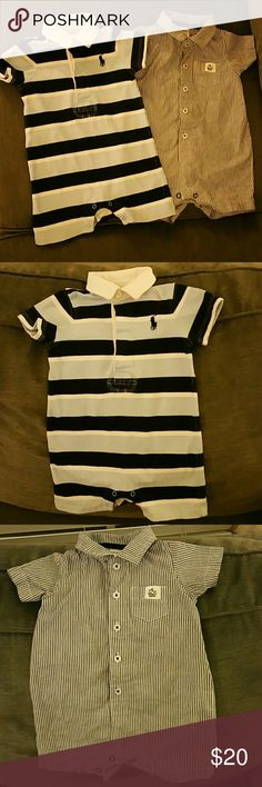 Two Rompers for boys Great condition! Carter's and Ralph Lauren. Ralph Lauren One Pieces Bodysuits