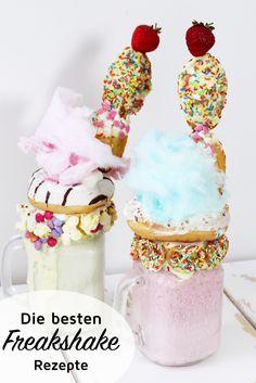 Die besten Milchshake aka Freakshake für deine nächste Party! Probiere die Freakshakes mit Donuts, Zuckerwatte oder Popcorn. Deiner Kreativität sind keine Grenzen gesetzt!
