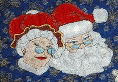 Advanced Embroidery Designs. Free Projects and Ideas. Adent Calendar with machine embroidery.