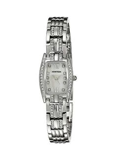 Women's Wrist Watches - Armitron Womens 755293MPSV Swarovski Crystal Accented SilverTone Bracelet Watch ** Click image for more details. (This is an Amazon affiliate link)