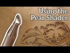 We continue our Introduction to Floral Carving series with Joe Meling. In this video, Joe will be demonstrating the Pear Shader. Diy Leather Projects, Leather Diy Crafts, Leather Craft Tools, Leather Carving, Leather Tooling, Tooled Leather, Leather Tutorial, Leather Working Patterns, Leather Workshop
