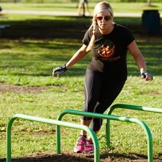 Hurdle Station | This station is an aerobic event that remains an exercise favorite. Depending on ability, the user can step or jump over each hurdle.