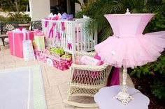 Designed by XOXO BRIDE-AT BUMP SMITTEN Baby shower inspirations.  Love the Tutu Lampshade
