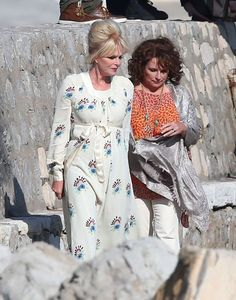 Production has finally begun on Ab Fab: The Movie, with comedy favourites Joanna Lumley and Jennifer Saunders spotted filming on the French Riviera. Absolutely Fabulous Quotes, Edina Monsoon, Patsy And Edina, Jennifer Saunders, Fashion Drug, Joanna Lumley, Ab Fab, British Comedy, British Invasion