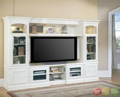 Hartford 4 Piece Traditional White Wall Unit TV Entertainment Center