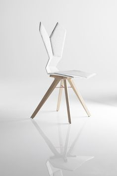 This newly designed Y Chair by Tom Dixon is made of flexible fibers that form to the user's own body definition