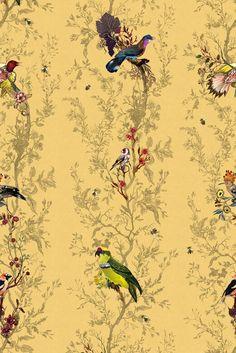 Birds n Bees wallpaper - Timorous Beasties