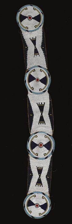 A Blackfoot beaded hide blanket strip. Native American Totem, Native American Clothing, Native American Regalia, Native American Beauty, Native American Beadwork, American Indian Art, Native American History, Indian Beadwork, Native Beadwork