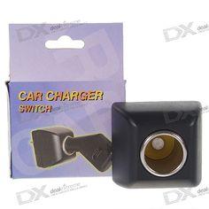 AC to DC 12V 450mA Car Cigarette Lighter Power Adapter (90V~240V AC)