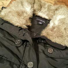 Land's End Down Vest Black vest, faux fur, invisible zipper with button closure. Lands' End Jackets & Coats Vests