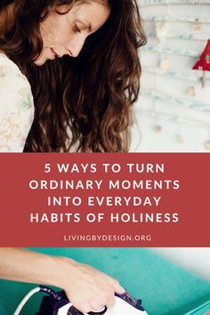 On a journey toward a more mindful use of my minutes, I began to view the spiritual disciplines as everyday habits for holiness. Regular prayer, immersion in the Words of Scripture, meditation on… Christian Marriage, Christian Women, Christian Parenting, Christian Living, Christian Faith, Christian Quotes, Spiritual Disciplines, Spiritual Practices, Spiritual Growth