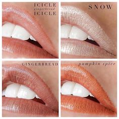 Spice up your holiday season with stunning limited-edition LipSense shades that evoke warm feelings of joy and wonder. Choose from Gingerbread- a shimmering light taupe, Pumpkin Spice- a frosted, earth copper, Snow- a frozen, glistening ivory that makes a beautiful topper over any LipSense shade, or Icicle- a crystal clear LipSense. Enjoy up to 18 hours of gorgeous lip color that will put you in the festive holiday mood!!! ☕️ Use Icicle LipSense as a clear layer over or under any LipSense…