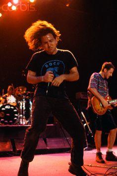 Eddie Vedder dancing.