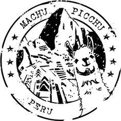 Machu Picchu Peru Travel Stamp Sticker