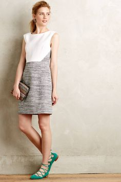 Sadie Tweed Shift by 4.collective #anthrofave #anthropologie