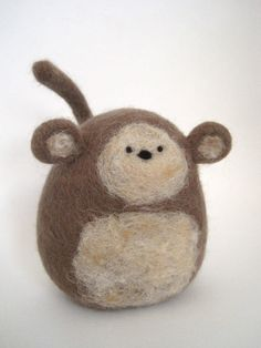 Needle Felted Monkey by Woolnimals on Etsy