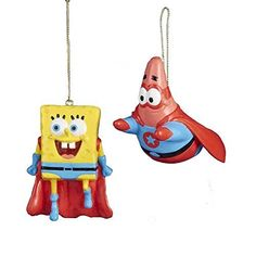 "Kurt Adler 2-3"" Super Hero Spongebob & Patrick Blow Mold Ornament Set, http://www.amazon.com/dp/B00M8U4A1K/ref=cm_sw_r_pi_awdm_F5Eqwb0WFPVFD"