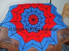 Stitch 'n Frog: Superhero Dream Catcher Afghan, especially for Spiderman Fans