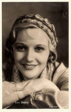 """""""Dutch actress Lien Deijers (1910 - 1965) - also known as Lien Deyers and Lien Dyers - was discovered by famous director Fritz Lang who gave her a part in Spione (1928). She acted in a stream of late silent and early sound films."""