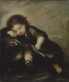 Infant Christ Sleeping / El Niño Cristo dormido //  Circle of Bartolomé Esteban Murillo // © The State Hermitage Museum // #Christ  #Jesus