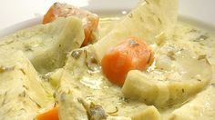 Although it's better known as a soup, avgolemono, the familiar Greek mixture of chicken broth, egg yolks and lemon juice, is also often used as a sauce. This quick vegetable braise of artichoke bottoms, carrots and potatoes, perfect for the season, is finished with a dill-enlivened avgolemono sauce. Made without ...