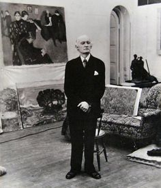 Painter Edvard Munch in his studio