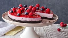 Malinový cheesecake s Oreo sušenkami Foto: