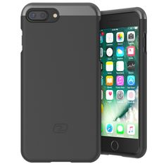 "iPhone 7 Plus Case, Encased Ultra Thin (SlimShield) Custom-fit Hybrid Cover (Encased Products) Apple i-Phone 7 Plus, 5.5 inch (Smooth Black). Compatible Model: iPhone 7 PLUS 5.5"" (2016), not compatible with the iPhone 7 4.7"" version. ✔ COMFORTABLE - The slim case is newly redesigned for greater strength, seamless functionality and minimalist design. ✔ CONVENIENCE - Large button and port cutouts accommodate nearly all charging cables and headphones. ✔ PROTECTION - The SlimShield has been..."