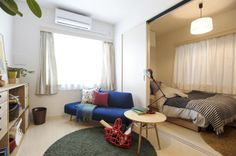 【暮らしといっしょ+無印良品+イデー】インテリアで収納力をUP!1LDKのお部屋をコーディネート! Small Space Living, Small Spaces, Cozy Apartment, Studio Apartment, European Home Decor, Room Goals, Minimalist Home, Small Apartments, Architecture Design